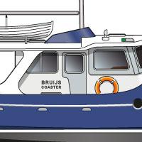 tekening drawing Bruijs Coaster 1400