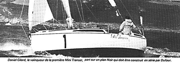 Dufour-t7 Petit Dauphin II met Daniël Gilard tijdens de Mini Transat 1979