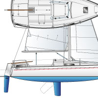 drawing tekening dufour t7 sail deck plan
